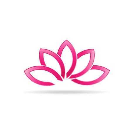 yoga meditation: Luxury Lotus plant image  Illustration