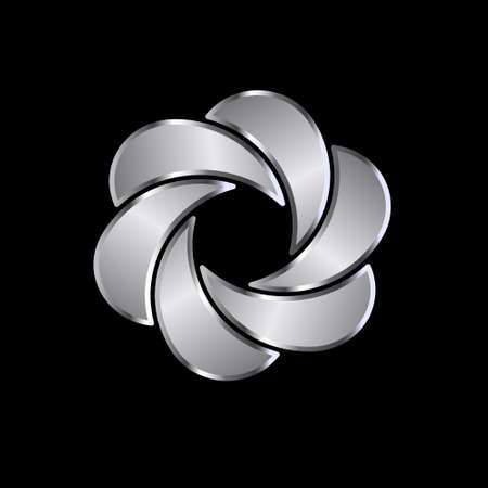 platinum: Abstract moon shape symbol  Concept of luxury, endless knot
