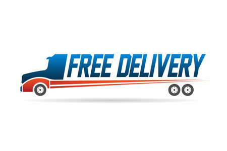 Free delivery truck image  Ilustracja