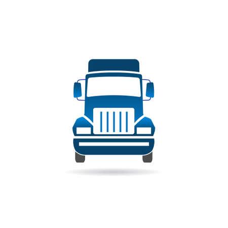 Imagen frontal de camiones