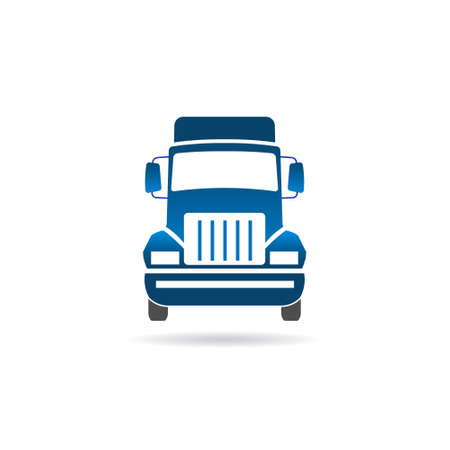 Immagine frontale del camion Vettoriali