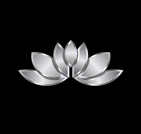 fortune flower: Platinum Lotus plant image  Concept of luxury spa, good fortune Illustration