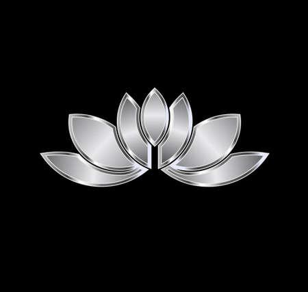 platinum: Platinum Lotus plant image  Concept of luxury spa, good fortune Illustration