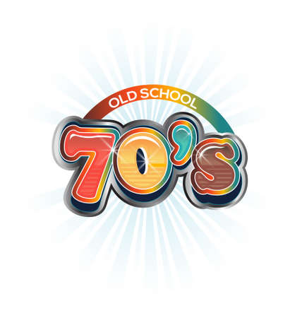 disco symbol: 70s Vintage old school image  Vector icon Illustration