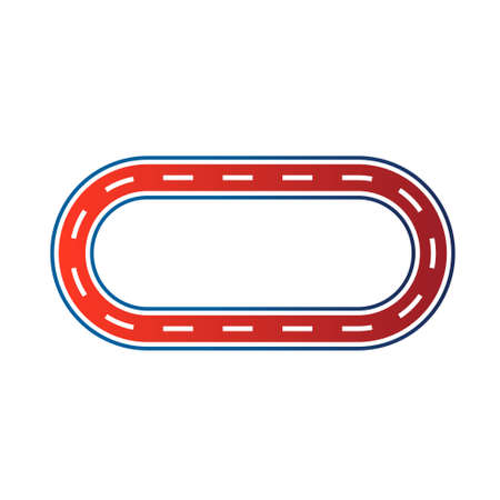 tire tracks: Elliptical race circuit image  Car road track  Vector icon