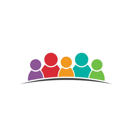 congress: Five people friends  Group of persons  Vector icon