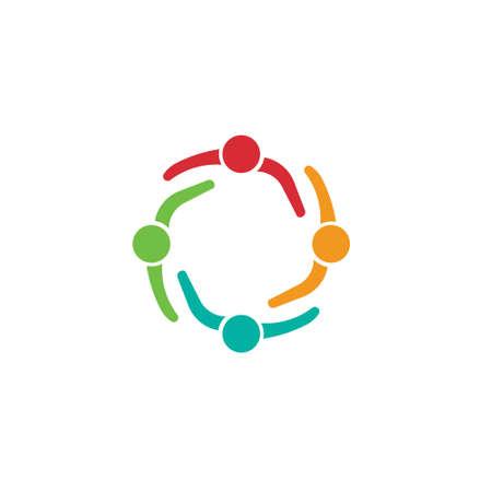 Vergadering van het Team 4 Design icoon Groep van mensen Stockfoto - 29631591