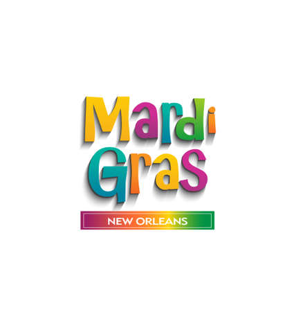 Mardi Gras card sign  Vector design Illustration
