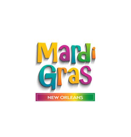 Mardi Gras card sign  Vector design Vector