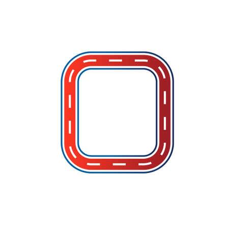 正方形のレース回路イメージ車道路トラック ベクトル アイコン