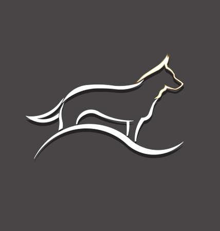 犬スタイル画像の白動物ペット、家畜の概念に飼いならされました。  イラスト・ベクター素材