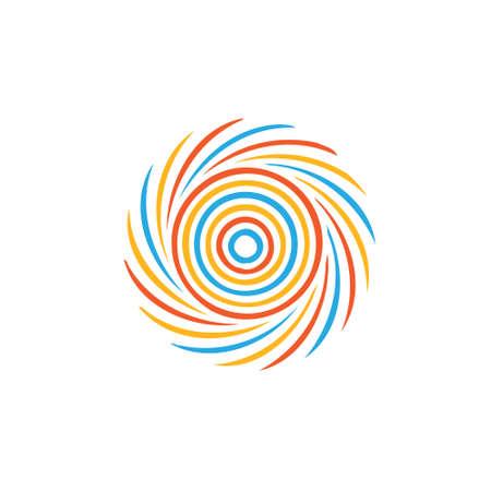 抽象的なカラフルな渦巻きイメージ ハリケーン, 竜巻, 竜巻ベクトル アイコンの概念  イラスト・ベクター素材