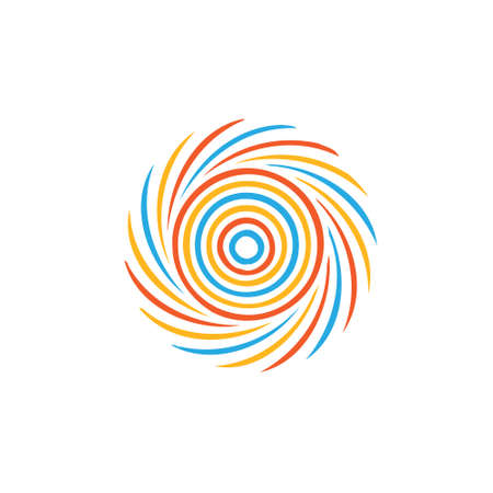 tornado: Abstract colorful swirl image  Concept of hurricane, twister, tornado  Vector icon
