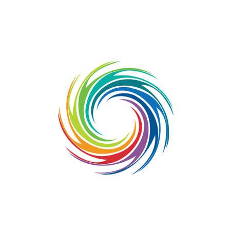 Abstracte kleurrijke afbeelding swirl Concept van de orkaan, twister, tornado