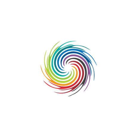 Abstract colorful swirl image  Concept of hurricane, twister, tornado