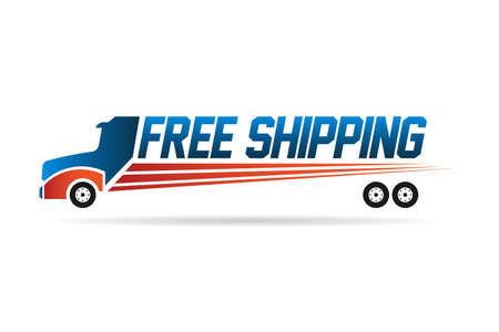 Free Shipping truck image  Vector