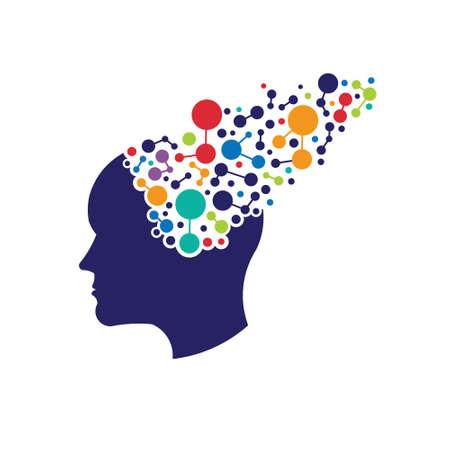 Concept of networking brain  Vector