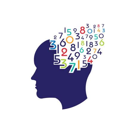 mathematical: Concept of mathematical brain  Illustration