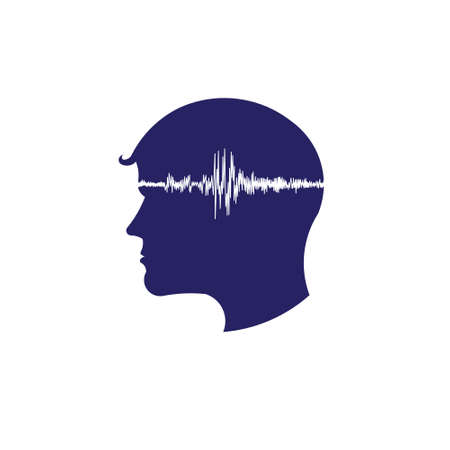 Concept of electroencephalogram head Illustration