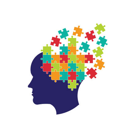 Concept van het denken aan de hersenen op te lossen