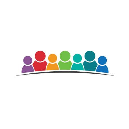 Lavoro di squadra persone 7 Gruppo di persone Vettoriali