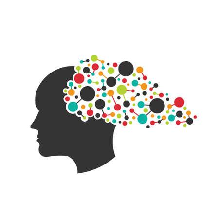 脳のネットワークの概念  イラスト・ベクター素材