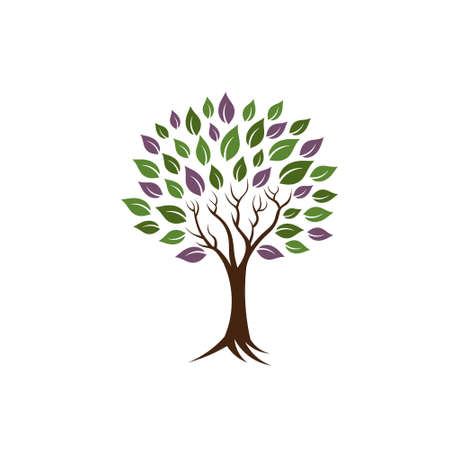 Life tree image  Concept of happiness, young and healthy  Vector