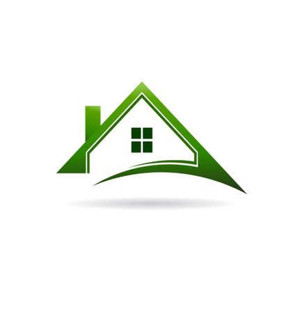 Green houses swoosh   Vector