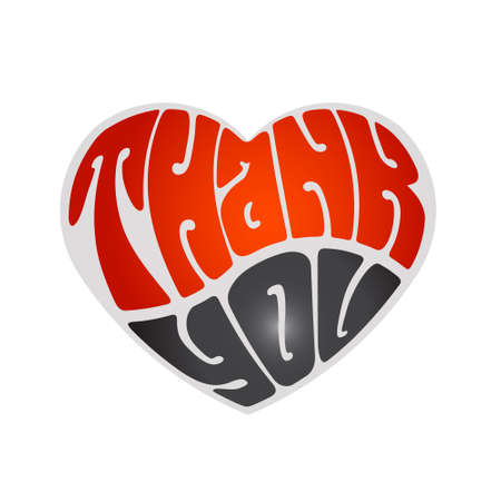 Thank you heart design Vector