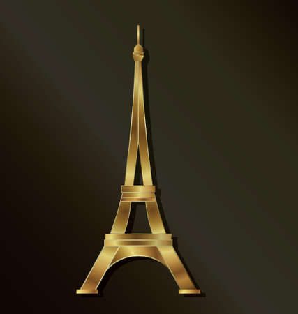Luxury Golden Eiffel Tower image Vector