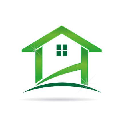 Green House. Vector