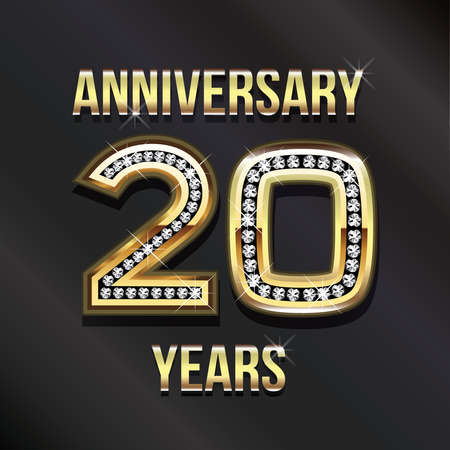 20 years anniversary greeting card. photo