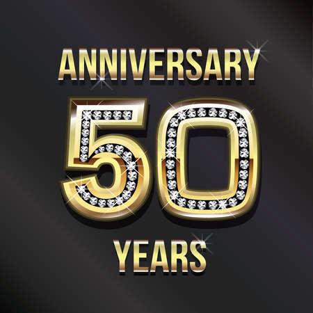 50 years anniversary greeting card. photo