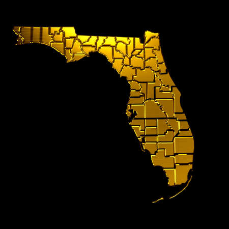 floridian: Florida Golden map by counties.VIP symbol