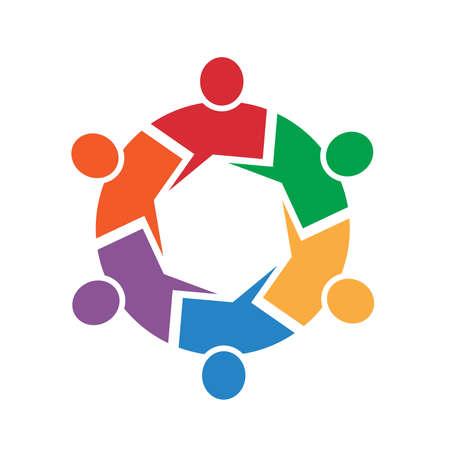 mensen kring: Roep 6 personen cirkel