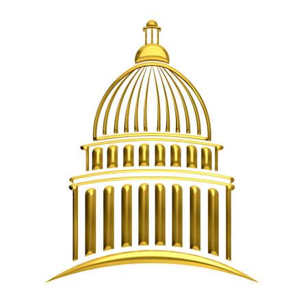 u s a: Golden Capitol building
