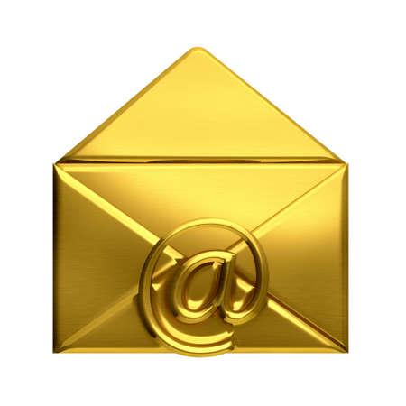 Open golden envelope email