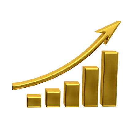 Business Growth - Golden Bars photo