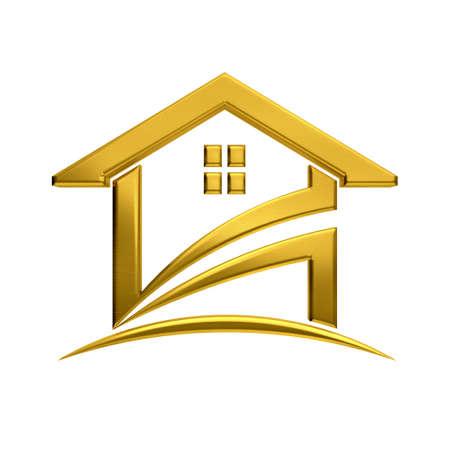 real estate sold: Golden house real estate image.