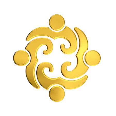 Golden Teamwork 4 curly