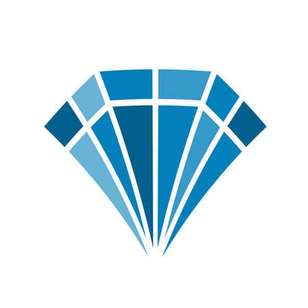 Diamond color flat design icon.