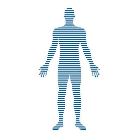 Mensen Body strepen. Concept van de beweging, het neigen, Stock Illustratie