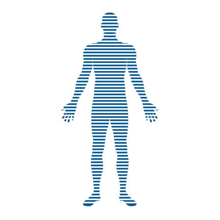 People Body stripes. Concept of motion, trending,