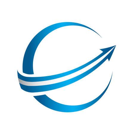 Icono de la flecha 3D global Foto de archivo - 34190925