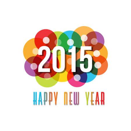 fin de ao: 2015 Feliz A�o Nuevo c�rculos de fondo Vectores