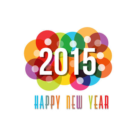 happy new year banner: 2015 Happy New Year circles background Illustration