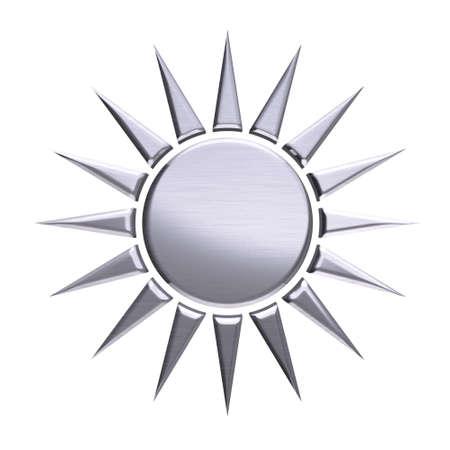 platinum: Platinum sun isolated in white background