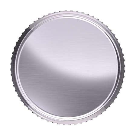 platinum: Platinum coin illustration isolated on white background