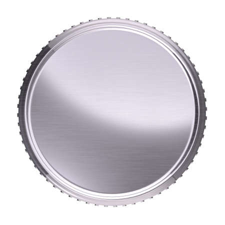 Platinum coin illustration isolated on white background
