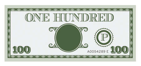 bank note: One hundred money bill image. With space to add your text, information and image.